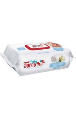Baby Turco Islak Havlu Mendil 90 Yaprak 12 Li Set Beyaz Sabun Kokulu Plastik Kapaklı