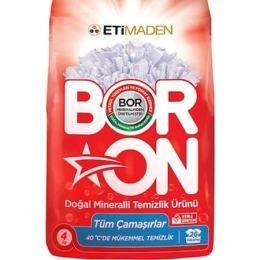 Boron Toz Çamaşır Deterjanı Doğal Mineralli Tüm Çamaşırlar 26 Yıkama 4 KG