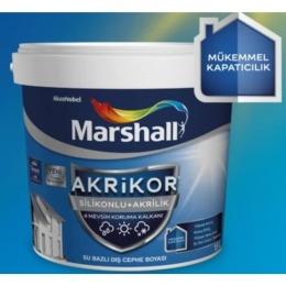 Marshall Akrikor Silikonlu+Akrilik Su Bazlı Dış Cephe Boya 15 Lt