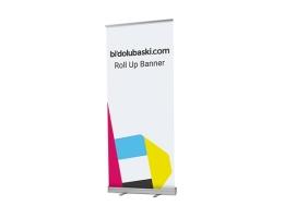 Roll Up Banner Baskı En Uygun Fiyatlarla Bidolubaskı'da