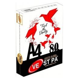 Vestpa Beyaz A4 Fotokopi Kağıdı 500 Yaprak 80 Gram Tekli